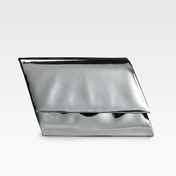 Sang-A-Flash-Parallelogram-Clutch-in-silver-metallic
