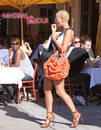 Spotted: Amber Rose and her Marni Slouchy leather bag