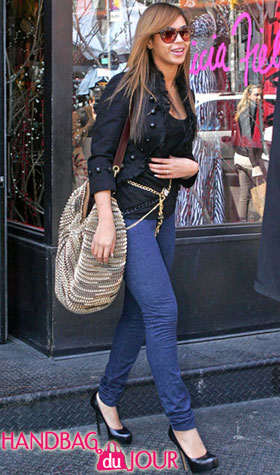 Beyonce's New Bag: the DvF Stephanie Large Slouchy Hobo Bag in Gold Metallic