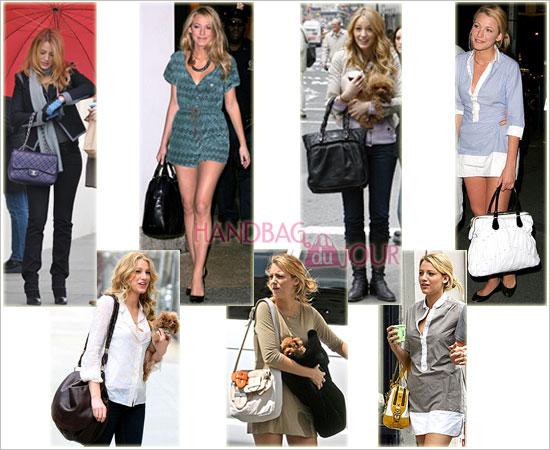The Many Bags of Blake Lively. (L to r): While strolling around Manhattan ...