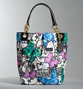 Coach's Parker Handbags from its Spring Collection Butterfly Print Tote