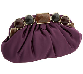 Haute Bag on the Cheap: Jessica McClintock Stone Frame Pleated Clutch