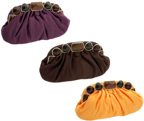 Haute Bag on the Cheap: Jessica McClintock Stone Frame Pleated Clutches