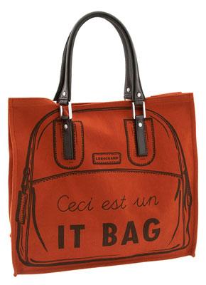 Longchamp 'It Bag' Vertical Tote orange