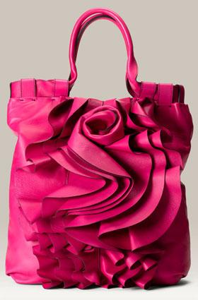 Valentino 'Rose Vertigo' Leather Shopper