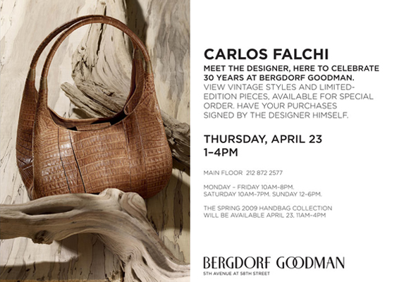 Carlos Falchi invitation - meet the designer