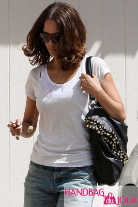 Halle Berry's Got a New Bag: the Roberto Cavalli Leather fringed shoulder bag