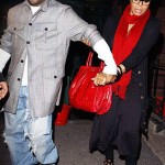 Janet Jackson loves her Zagliani puffy bags red croc jermaine dupri