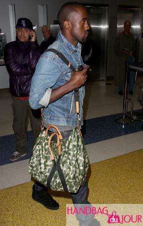 5e2651df676b Kanye West - the Louis Vuitton  Monogramouflage  don - Handbag du ...