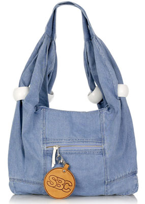 Not Haute - the See by Chloé Oversized denim slouchy hobo