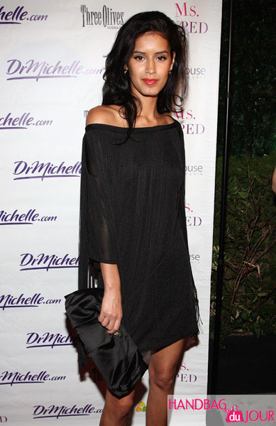 Jaslene Gonzalez Carries the Prada Raso A Clutch