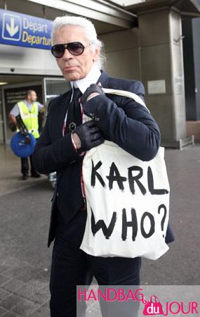 Karl Lagerfeld Karl Who handbag Nice France Chanel the Kaiser