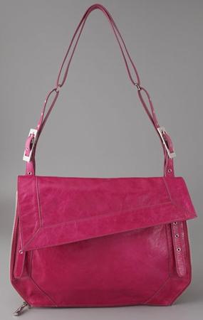 Kooba Jenny Bag pink wrinkled patent leather