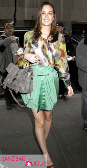 Leighton Meester with the Proenza Schouler PS1 Satchel