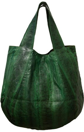 Haute bag of the week watersnake Beirn Jenna Hobo in leaf sex and the city movie carrie bradshaw