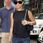Rihanna's new 'do, nails and Nina Ricci Ondine Pony Hair bag