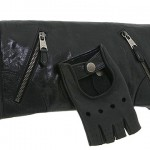 Alexander McQueen Faithful Glove Clutch black leather