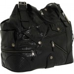 Alexander McQueen large Faithful Hobo black nero leather