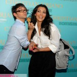 Kim Kardashian puckers up for Christian Siriano at his Victoria's Secret makeup launch