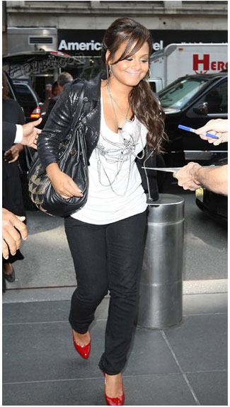 Christina Milian Jimmy Choo Ramona studded leather bag