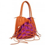 Kendall Conrad Playera bag in tangerine