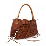 Kendall Conrad Playera bag in tobacco brown