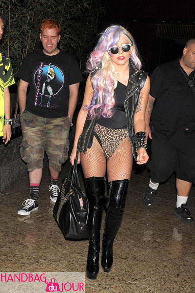 Lady Gaga out with Perez Hilton and the YSL 'Easy' Tote