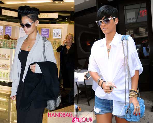 rihanna alexander wang donna hobo brenda zip denim leather bags