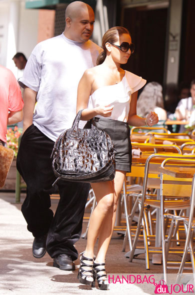 Adrienne Bailon with Irv Gotti the Givenchy Croc Nightingale Da Silvano