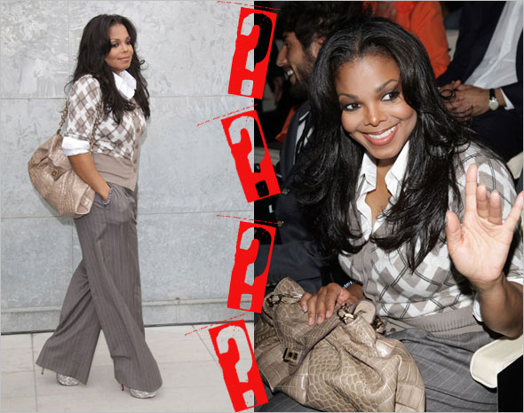 Guess her bag: Janet Jackson at Giorgio Armani - Milan Fashion Week