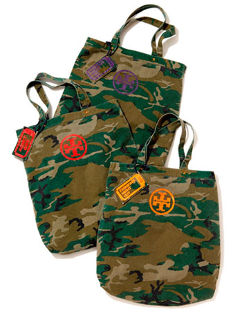 free camouflage bag tote tory burch fashion's night out