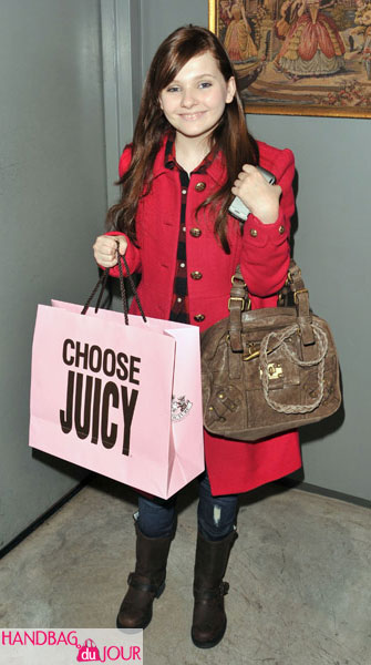 Abigail Breslin TEEN VOGUE Fashion University Juicy Couture Party 'Lock-It' Leather Turnlock Satchel