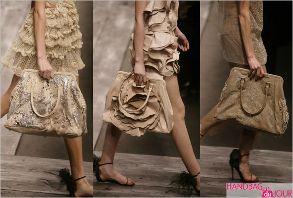 Bags on the runway at Valentino Spring Summer 2010