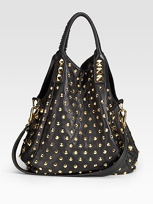 Be & D Garbo studded convertible tote
