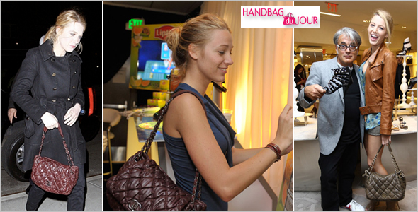 7fa25545b208 Blake Lively and her Chanel Bubble Quilted Flap Bag Waverly Inn Lipton  Green VitaliTEA Gift Lounge