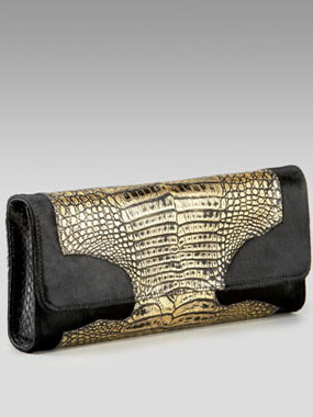 Carlos Falchi Haircalf & Crocodile clutch