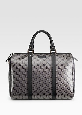 Gucci Joy Medium Crystal Lame Boston Bag