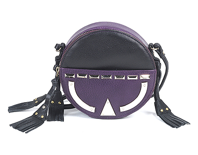 hayden harnett junya tambourine bag black grape