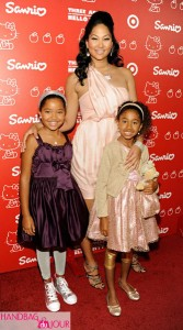 Kimora Lee Simmons Ming and Aoki Lee Simmons Hello Kitty 35th anniversary celebration held at Royal/T SANRIO