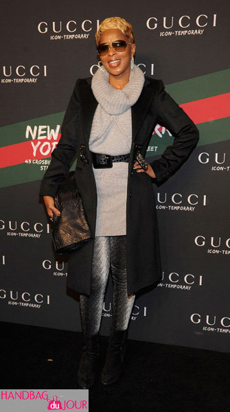 Mary J. Blige dons Gucci at Icon-Temporary Flash Sneaker Store launch