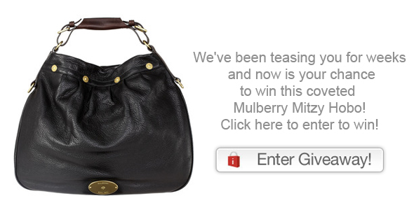 We've been teasing you for weeks and now is your chance to win this coveted Mulberry Mitzy Hobo from ideeli Click here to enter to win it