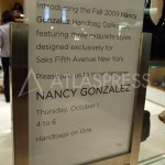 Nancy Gonzalez exclusive cruise 2010 bags at Saks