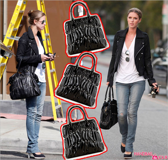 Life is easy for Nicky Hilton and her Valentino Maison Hard Tote