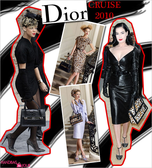 Rihanna and Dita von Teese attended the Christian Dior Pret a Porter show as part of the Paris Fashion Week Spring Summer 2010 in Paris France