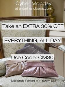 Cyber Monday handbag sale online steals and deals at Angel Handbags Lauren Merkin