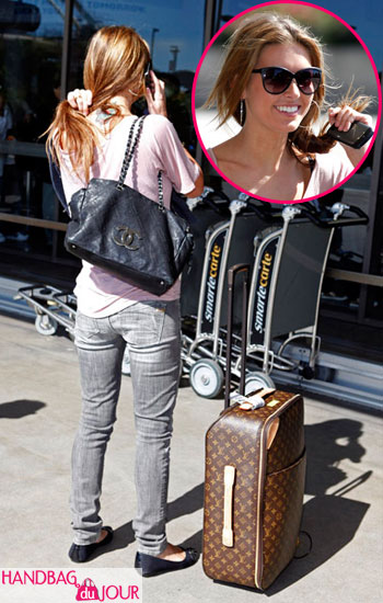 Audrina Patridge of The Hills travels light at LAX with Chanel and Louis Vuitton