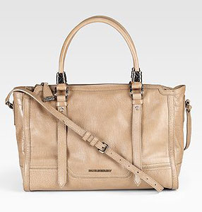 Burberry Convertible Leather Satchel