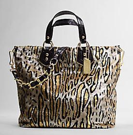 Bag Lady Coach Leopard Sequins Large Claire