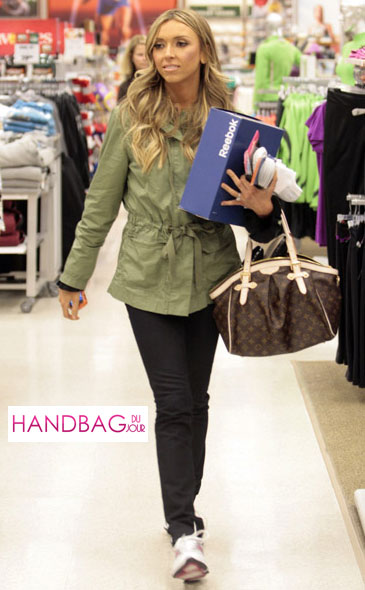 Guiliana Rancic shops for Reebok EasyTone sneakers at Dick's Sporting Goods on November 30th, 2009 in El Segundo, California with her Louis Vuitton Tivoli GM