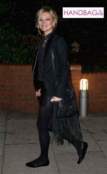 Kate Moss with Genevieve Jones Kate Fringe Bag